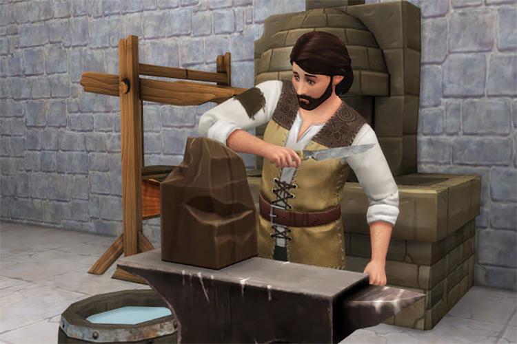 Blacksmith Set Sims 4 CC
