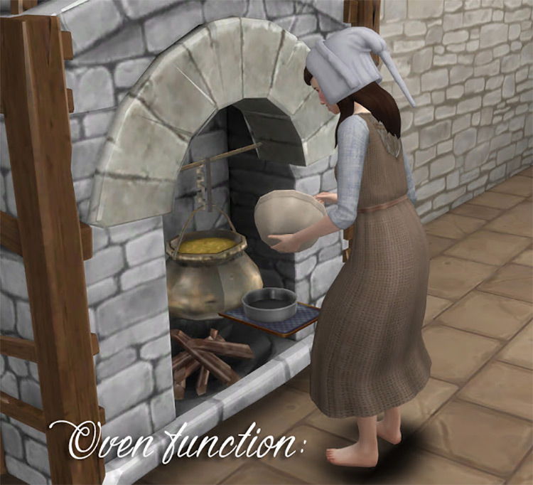 Fireplace as an Oven Sims 4 CC