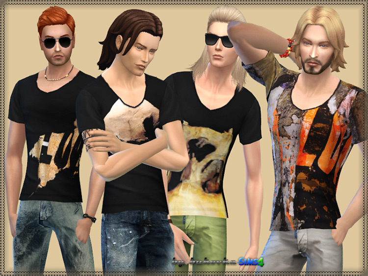 Givenchy Male Shirt for Sims 4