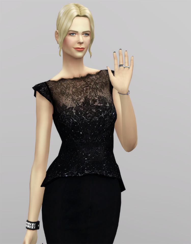 Givenchy Black Dress Sims 4 CC