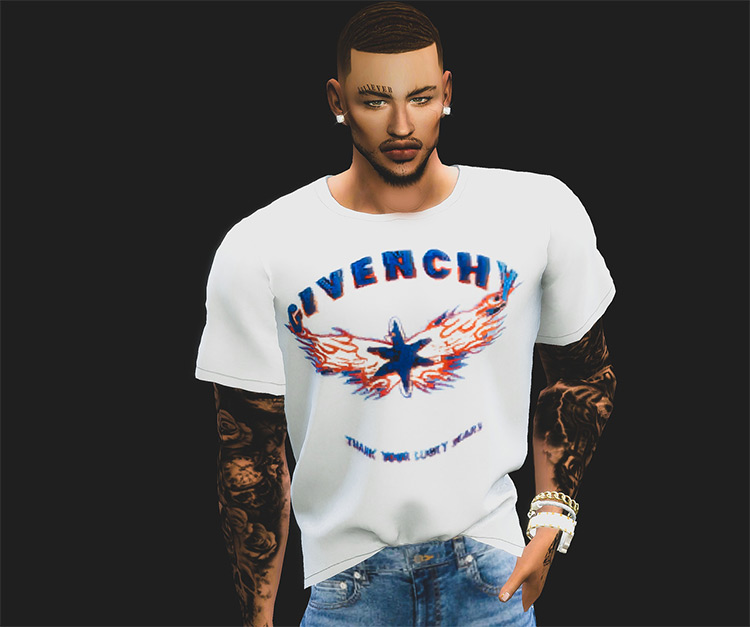 Givenchy Male Tops TS4 CC