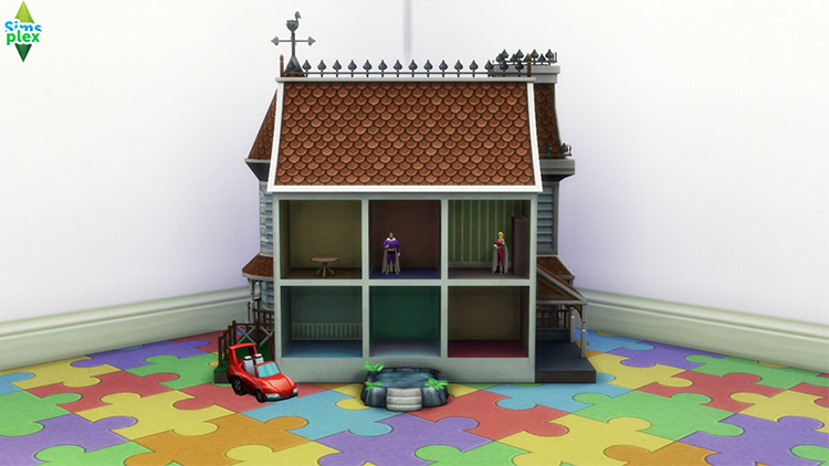 Brown Roof Dollhouse Toy / TS4 CC