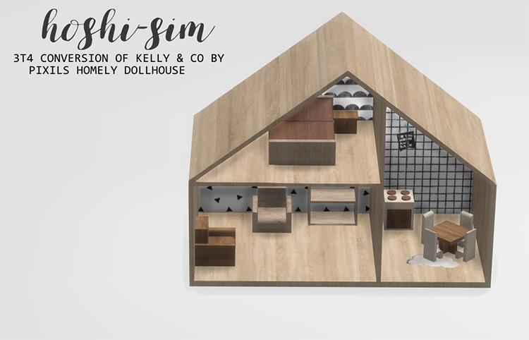Homely Dollhouse / Sims 4 CC