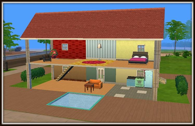 Home For Two Dollhouse Replica / TS4 CC