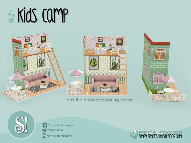 Kids Camping Dollhouse for The Sims 4