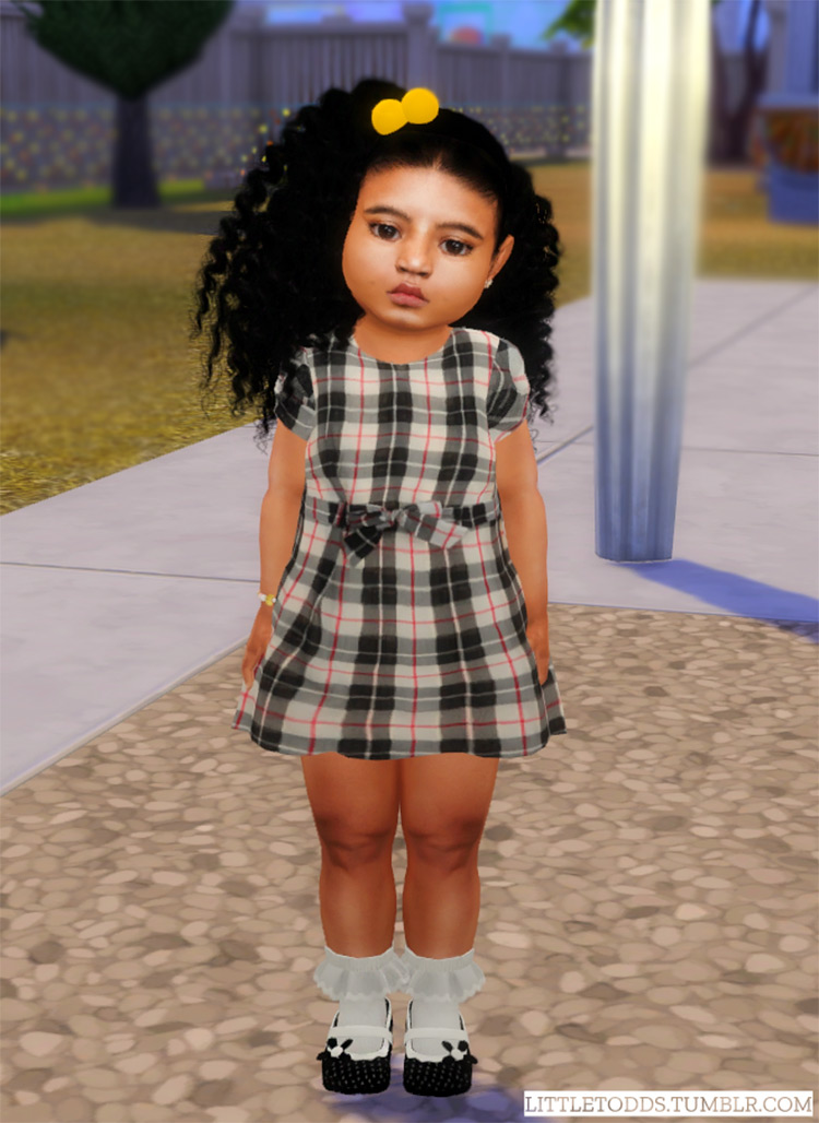Burberry Toddler Dress / TS4 CC
