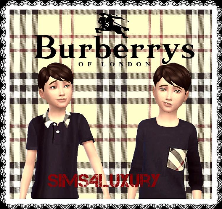 Burberry Shirts for Boys / Sims 4 CC