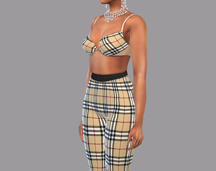 Beyonce's Burberry Outfit CC made for The Sims 4