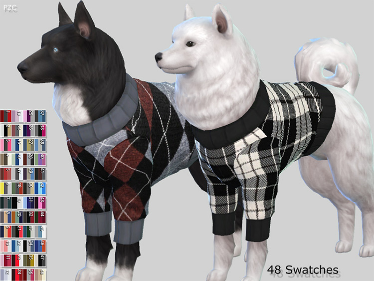 Burberry Sweater Collection for Large Dogs / TS4 CC