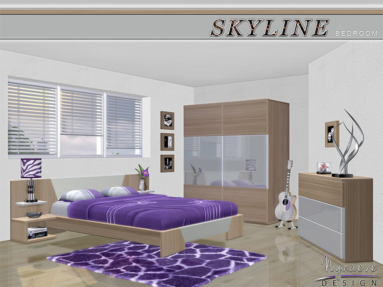 Skyline Bedroom Set for The Sims 4