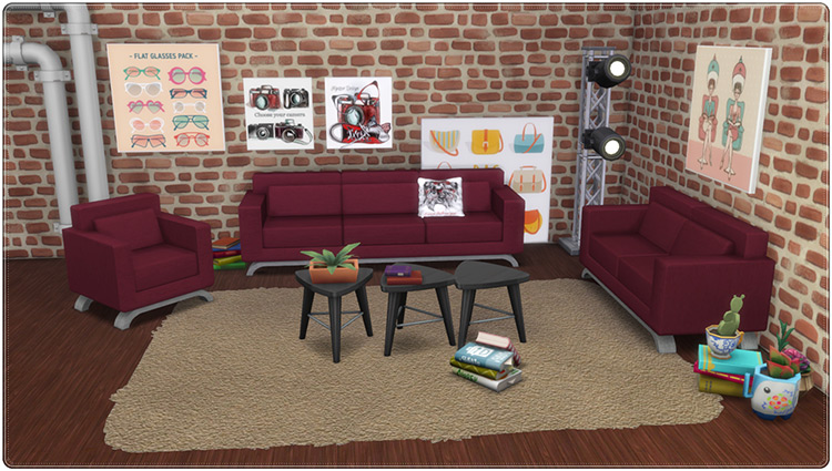 Modern Couch Conversion for The Sims 4