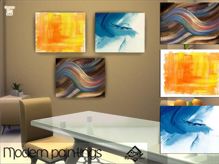 Modern Paintings Set / Sims 4 CC