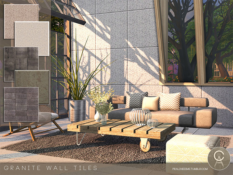 Granite Walls CC for The Sims 4