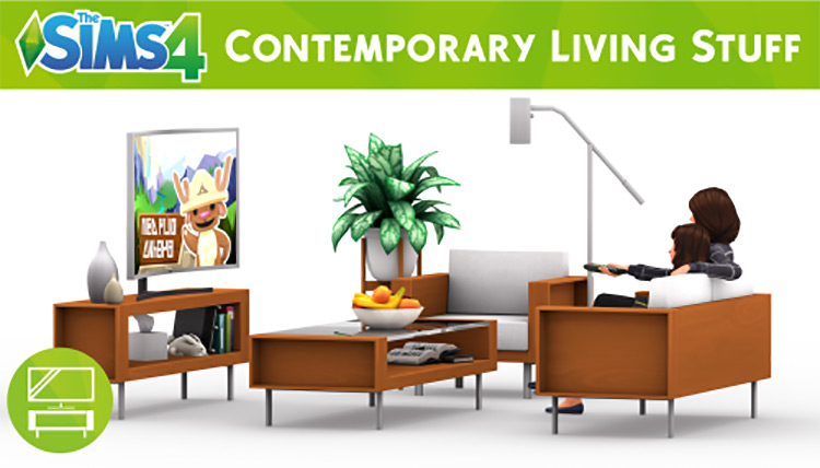 Contemporary Living Stuff for The Sims 4