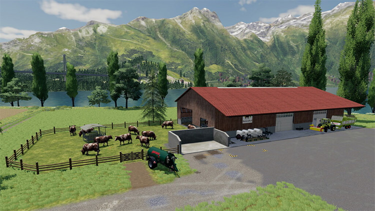 Modern Cow Stable Mod for FS19