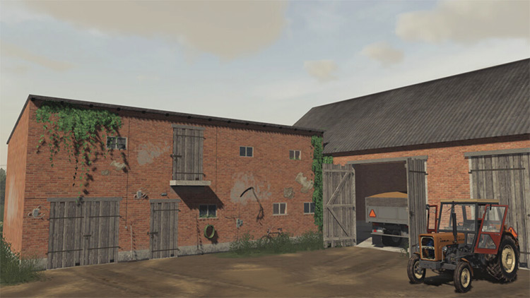 Buildings With Cowshed Mod / FS19 Screenshot