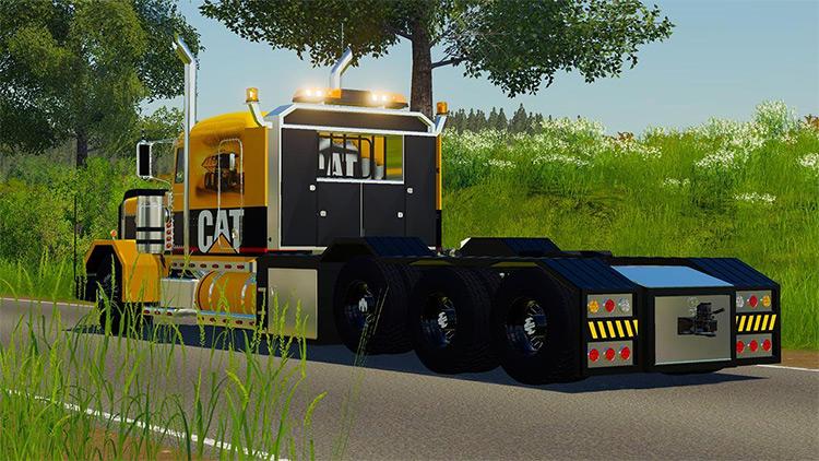 Peterbilt 389 Caterpillar Truck Mod for FS19