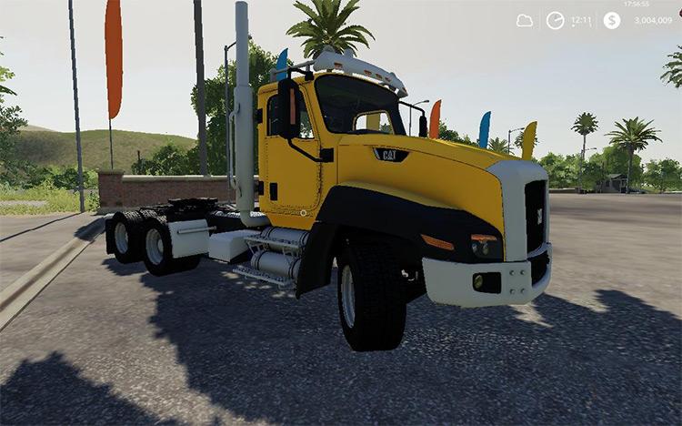 Caterpillar CT660 Yellow Truck Mod for FS19