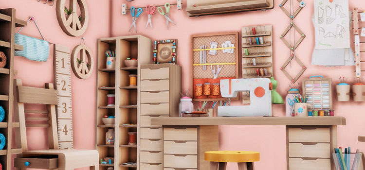 Sims 4 Crafts Room CC (All Free To Download)