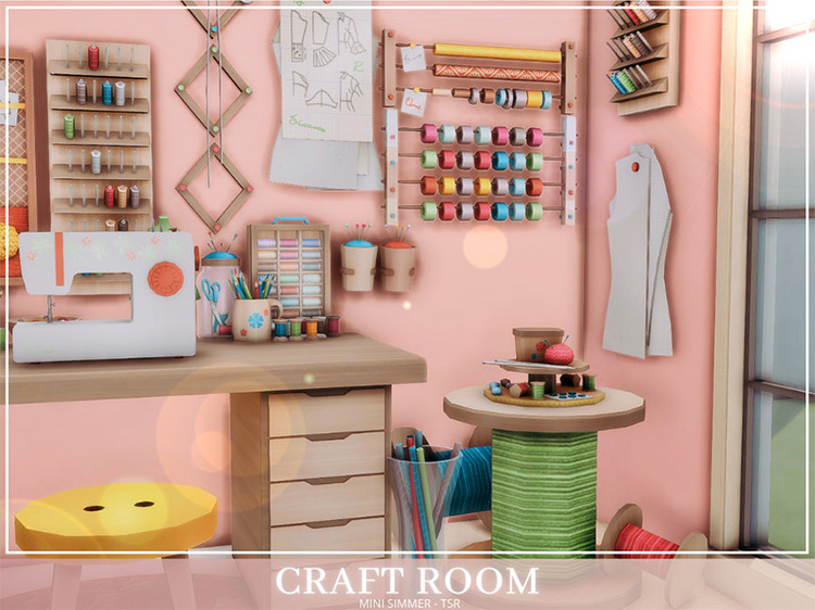 Mini Simmer's Craft Room for The Sims 4
