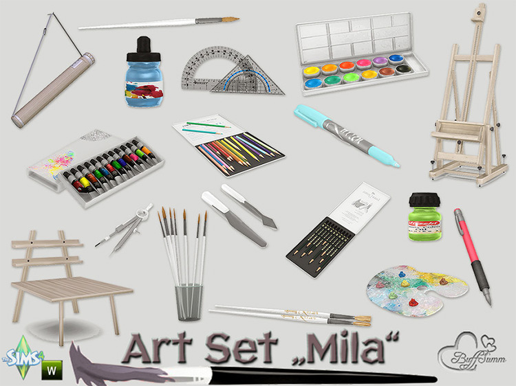 Mila Art Set / Sims 4 CC