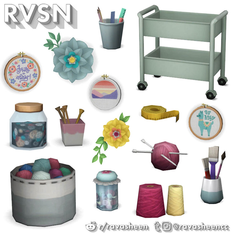Procraftination Crafting Clutter / TS4 CC