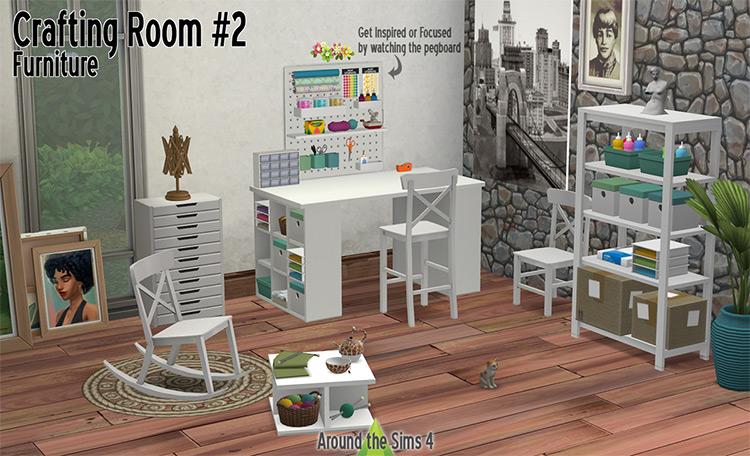 Crafting Room Furniture Set / Sims 4 CC