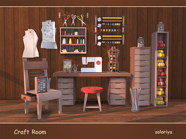 Craft Room Set for The Sims 4