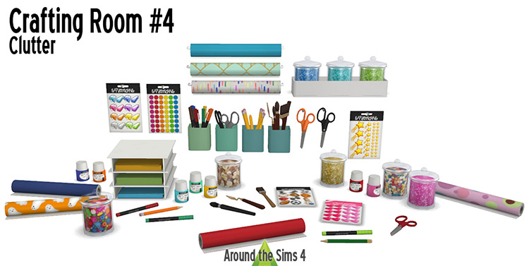 Crafting Room Clutter / Sims 4 CC