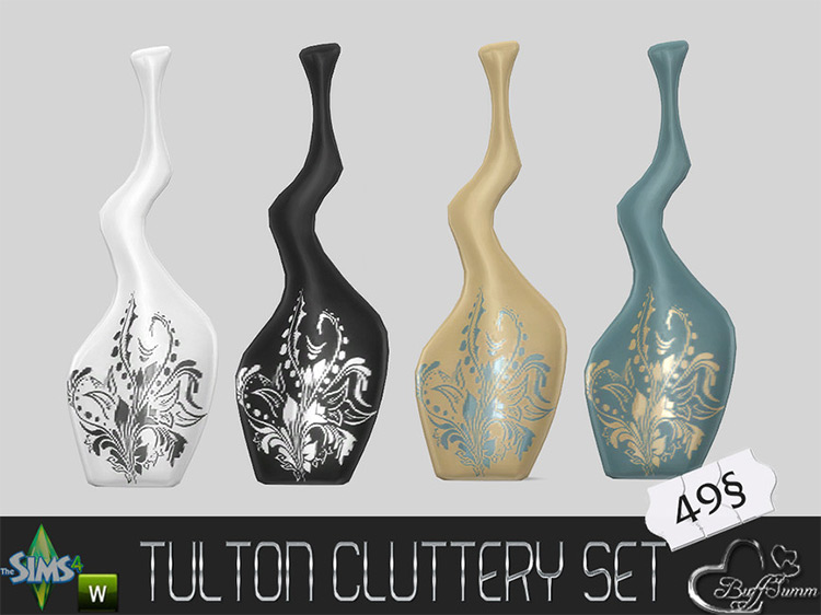 Tulton Cluttery Vase / Sims 4 CC