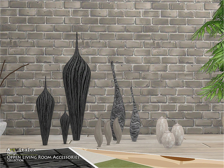 Oppen Living Room Accessories / TS4 CC