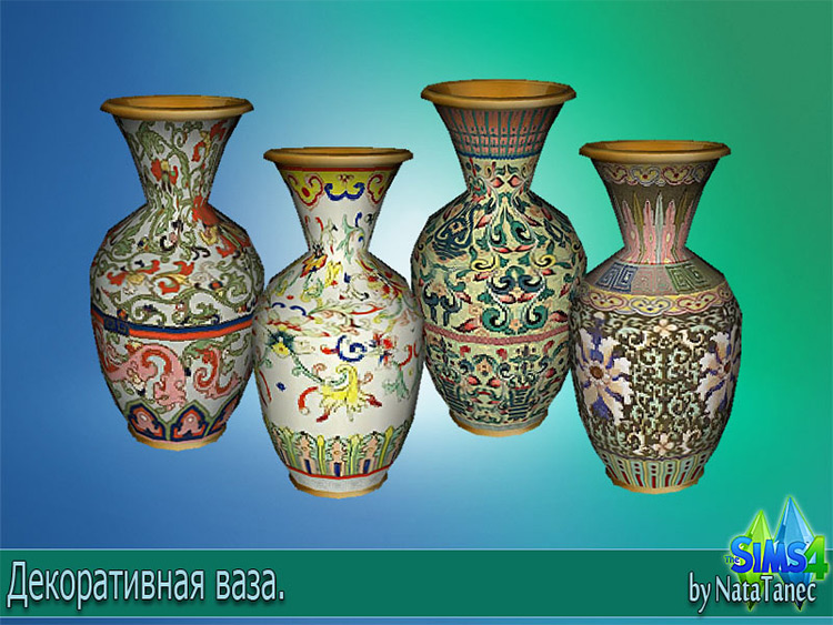 Chinese Vase CC for The Sims 4