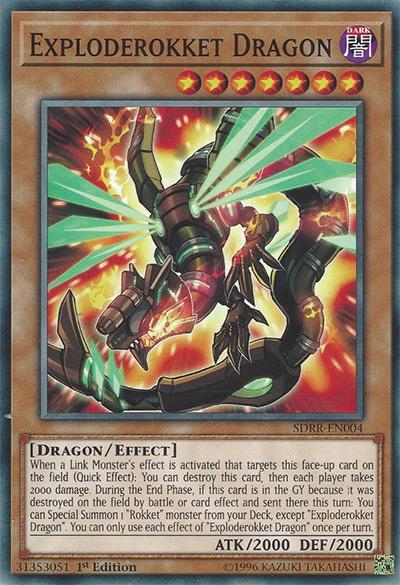 Exploderokket Dragon YGO Card
