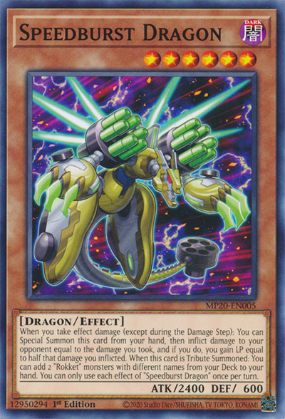 Speedburst Dragon Yu-Gi-Oh Card