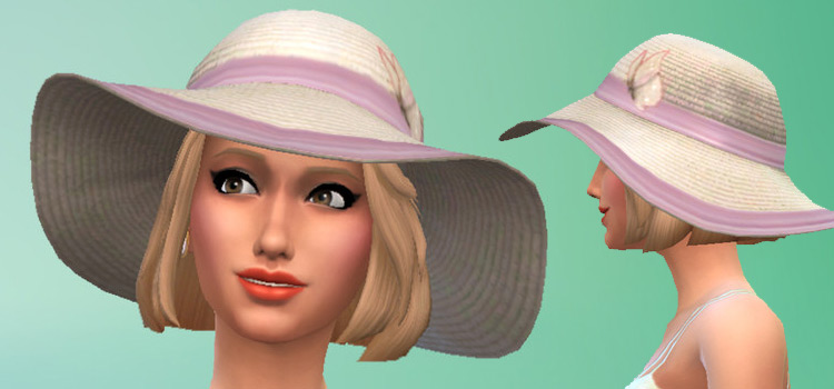 Girls Sunhat CC in The Sims 4