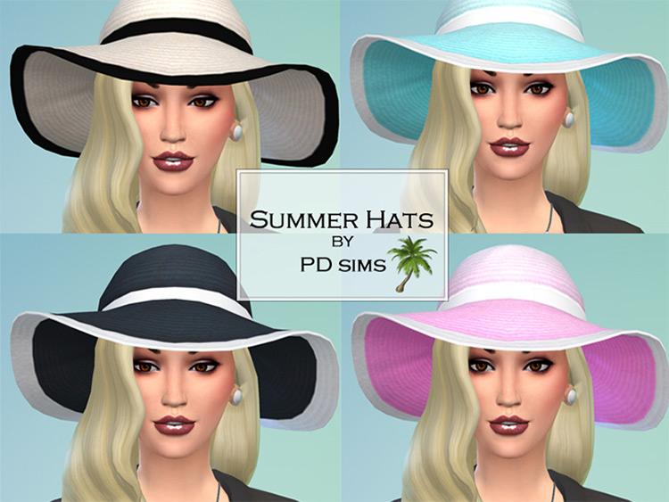 Summer Hats / Sims 4 CC