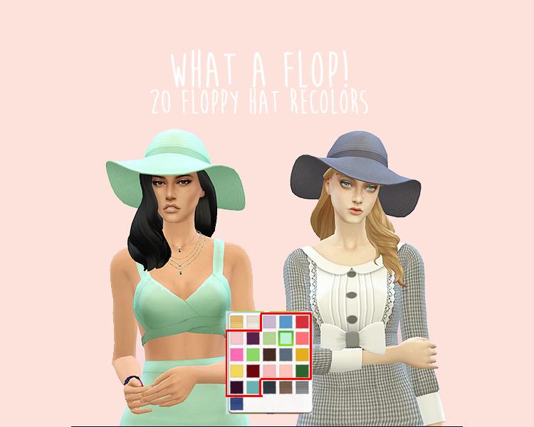 What A Flop Hat Recolors / TS4 CC