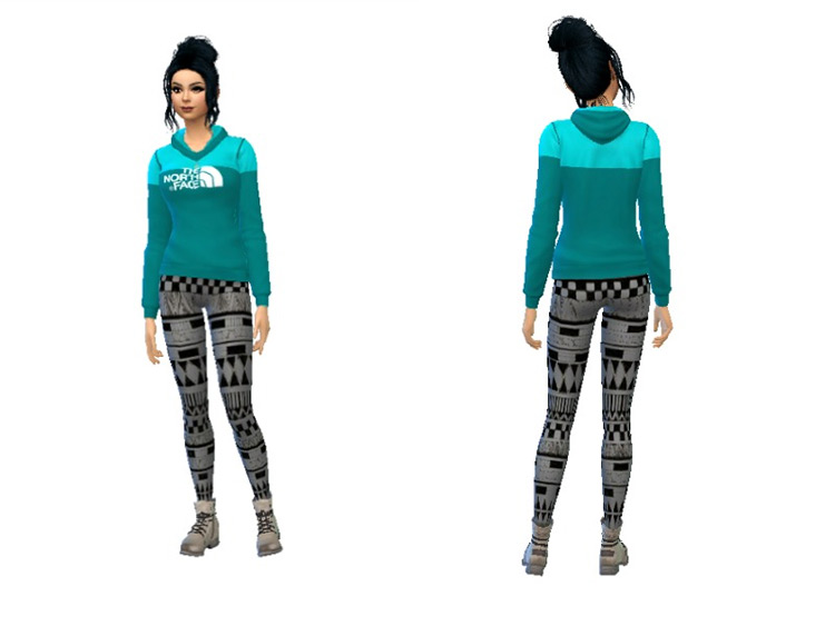North Face Outfit Sims 4 CC