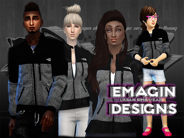 Family North Face Jackets for Sims 4
