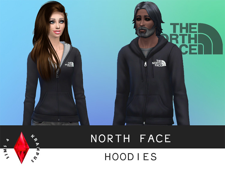 North Face Hoodies for Sims 4