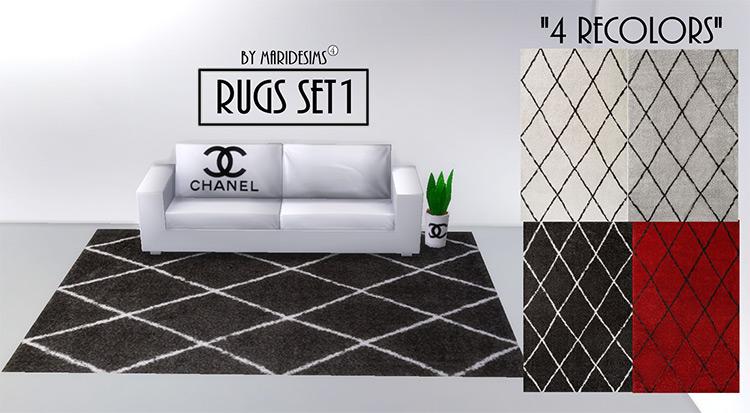 Chanel Rugs Set #1 / Sims 4 CC