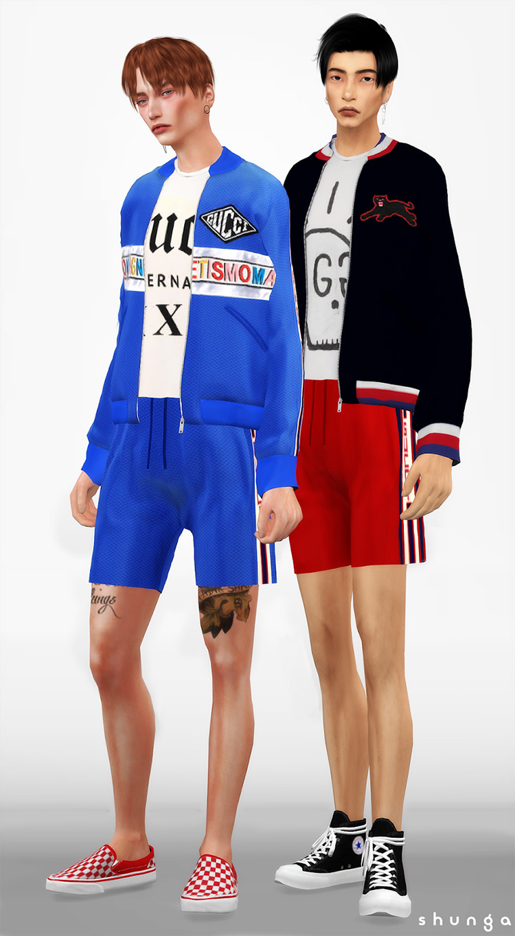 Gucci Men's Set for The Sims 4