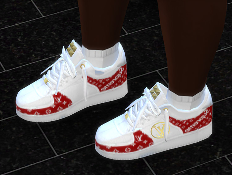 Louis Vuitton Shoes for all genders / Sims 4 CC