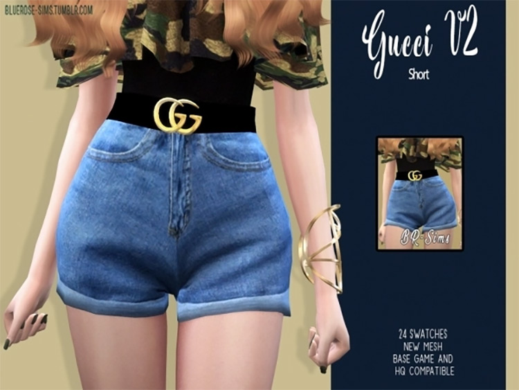 Gucci Shorts for The Sims 4