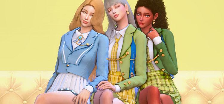Sims 4 School Uniform CC + Mods (All Free)