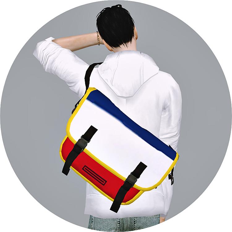 Male Messenger Bag Sims 4 CC