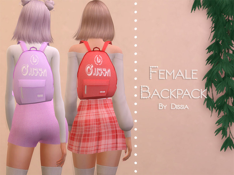 Female Backpack for Sims 4