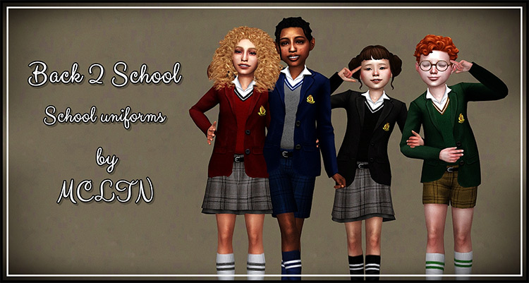 Back 2 School For Kids for Sims 4