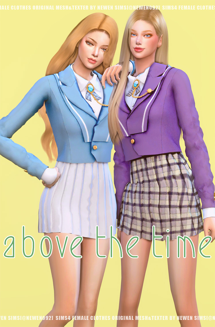 Above The Time Set for Sims 4