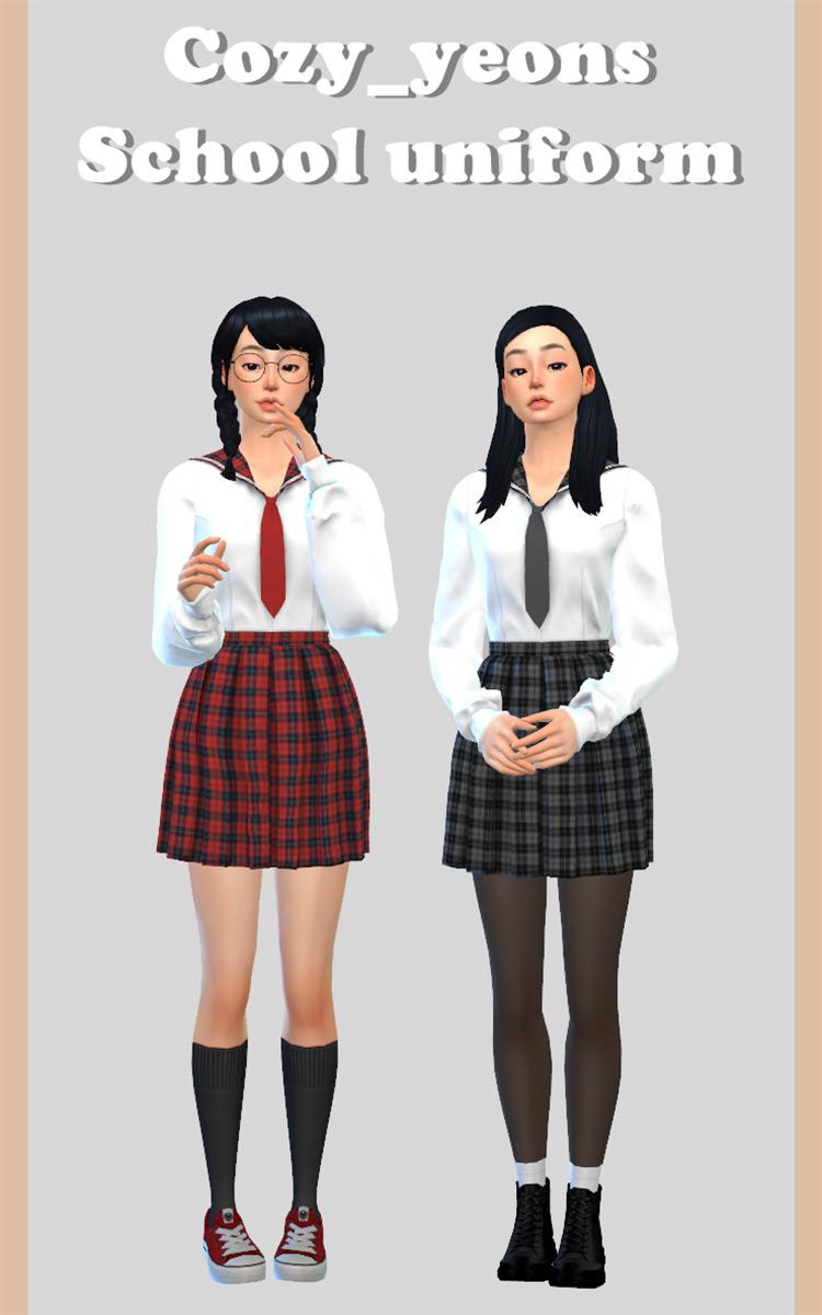 Easy School Uniform for Sims 4